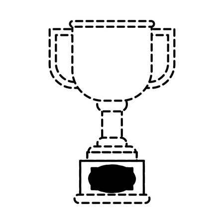 A trophy cup icon image isolated on white background.