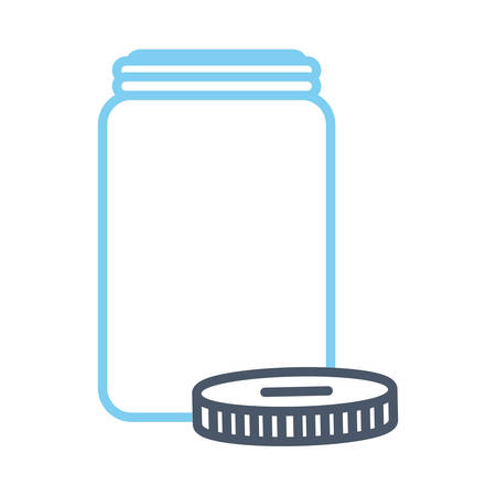 Empty jar icon Ilustração