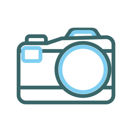 A photographic camera icon isolated on white background.
