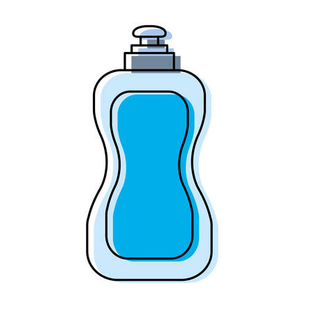 pastel blue dish washing soap over white background vector illustration