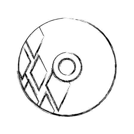 Design del modello CD del marchio aziendale