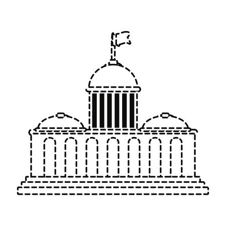 A capitol building icon isolated on white background.