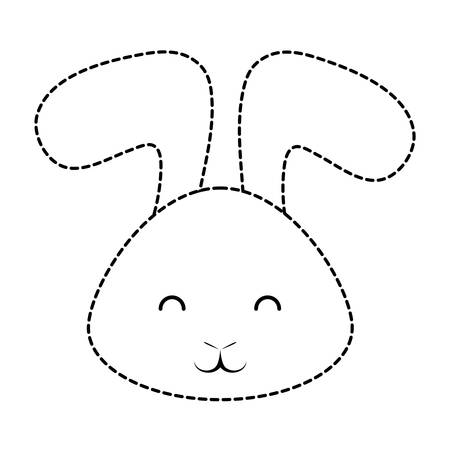 Cute rabbit icon isolated on white background