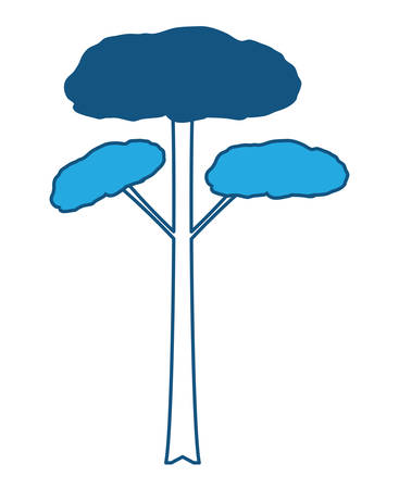 Tall tree icon image. 矢量图像