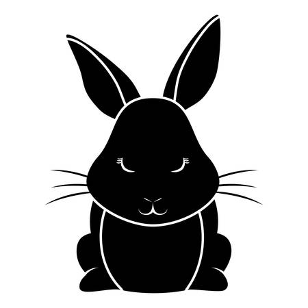 Cute rabbit icon.