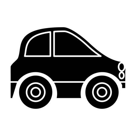 Mini car icon over white background, vector illustration