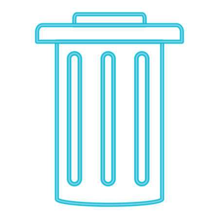 Trash can icon illustration on white background. Illustration