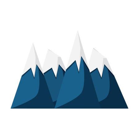 Alps peaks icon.