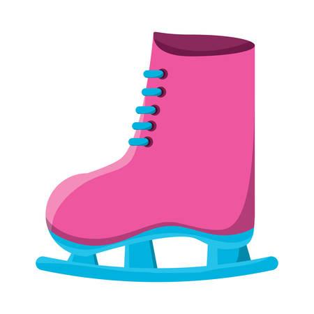 Ice skates icon. Illustration