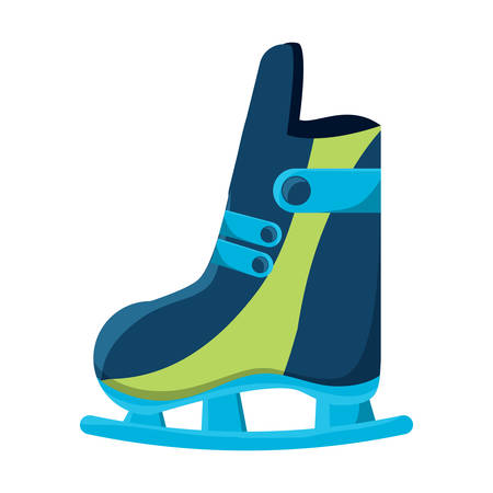 Ice skates icon. Illustration