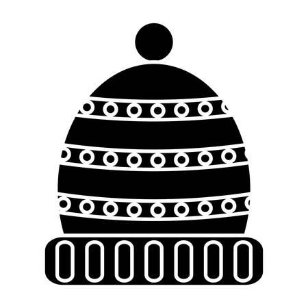 Winter hat icon over white background, vector illustration Illustration