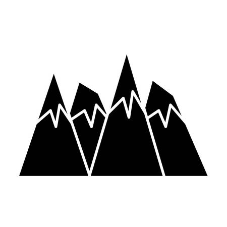 Alps peaks icon over white background, vector illustration