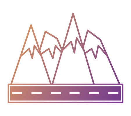 Road and alps peaks icon