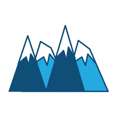 Alps peaks icon over white background, vector illustration.
