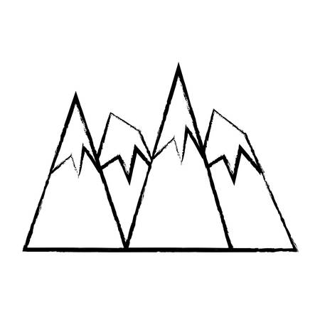Alps and mountain peaks icon