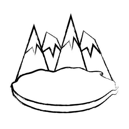 Mountain alps peaks icon