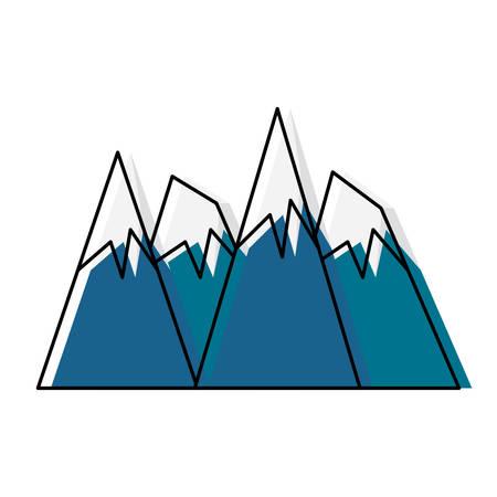 Alps peaks icon
