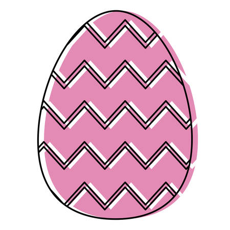 Easter eggs design illustration on white background.