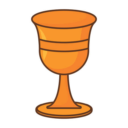 Holy grail icon over white background, colorful design. vector illustration
