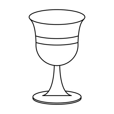 Holy grail icon over white background, vector illustration