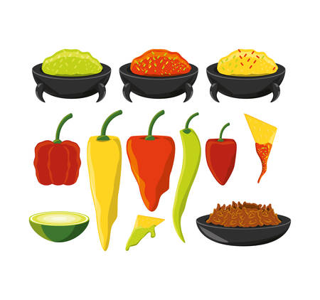 chili pepper mexican traditional food vector illustration graphic design