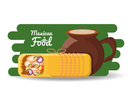delicious mexican traditional food vector illustration graphic design