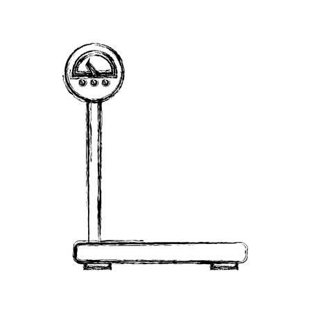 Poids de la cargaison incolore ligne plate sur illustration vectorielle fond blanc Banque d'images - 96696170