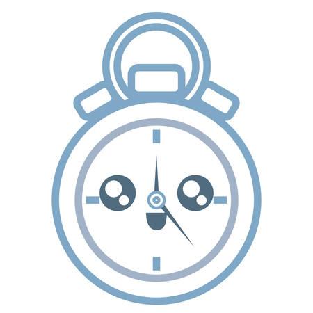 kawaii chronometer icon over white background colorful design vector illustration Stock Illustratie