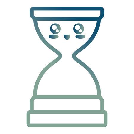 hourglass icon over white background vector illustration Stock Illustratie