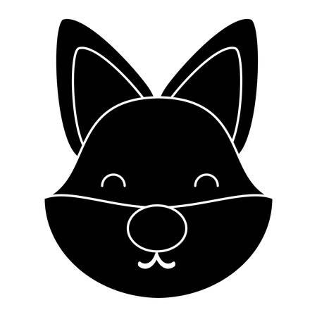 cute fox animal icon over white background, vector illustration Stock Illustratie