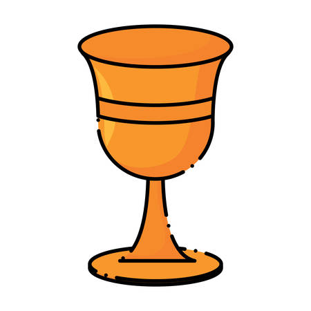 Holy grail icon over white background, colorful design. vector illutration