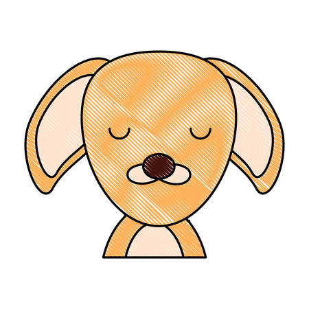 cute puppy icon over white background, colorful design vector ilustration Illustration