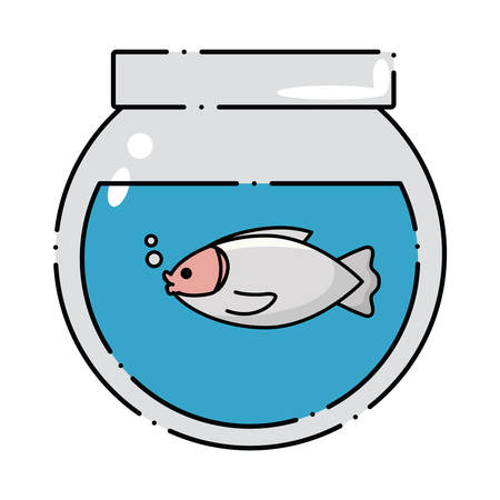 fishbowl icon over white background, colorful design. vector illustration Illustration