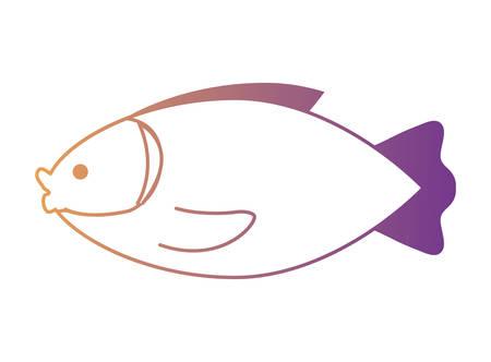 fish icon over white background, colorful design. vector illustration