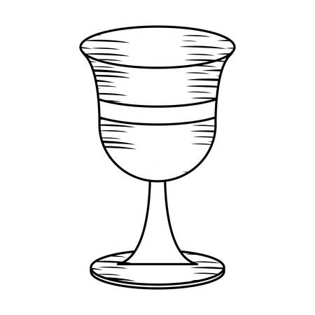 Sketch of Holy grail icon over white background, vector illustration.