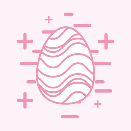 Easter egg icon over pink background