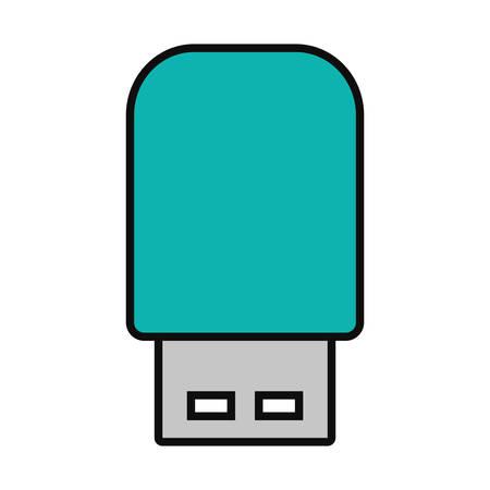 USB flash drive on white background