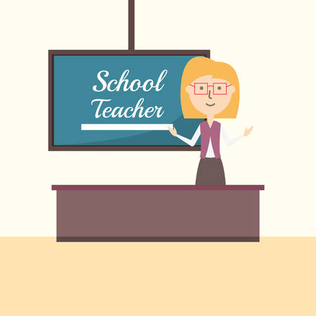 School teacher image illustration