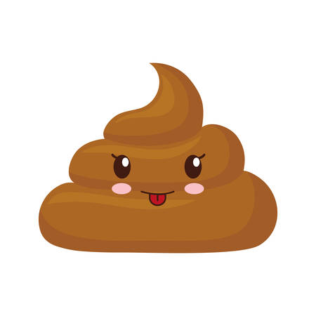 poop over white background vector illustration Stock Illustratie