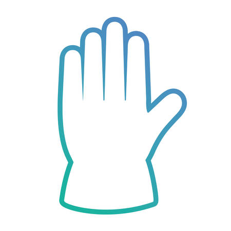 Blue house cleaning glove over white background illustration
