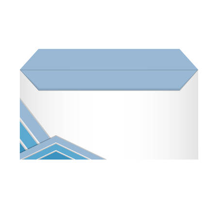 box with stripes design over white background vector illustration