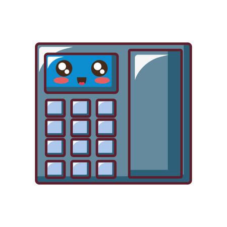 Icône de téléphone de bureau sur illustration vectorielle fond blanc