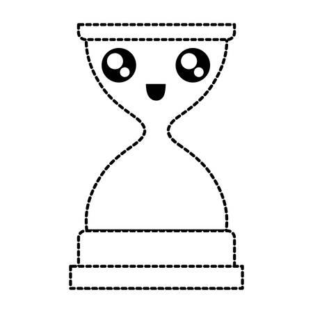 Hourglass outline image illustration Illustration