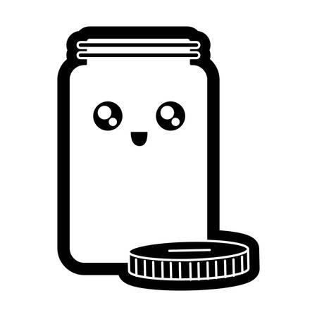 Coin jar image illustration