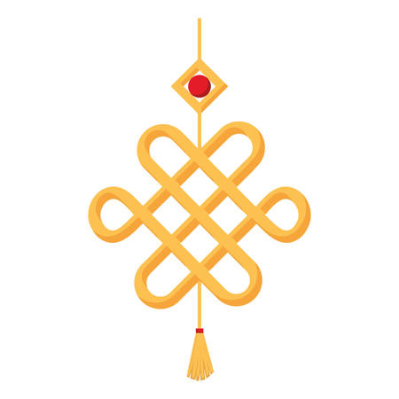 decorative  gold pendant  over white background  vector illustration