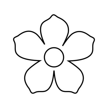 plumeria tropical flower icon over white background vector illustration