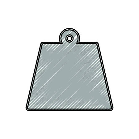 weight icon over white background colorful design vector illustration Illustration