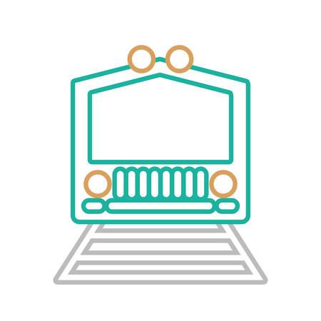 train icon over white background colorful design vector illustration Stock Illustratie