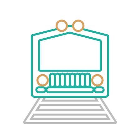 train icon over white background colorful design vector illustration Illustration