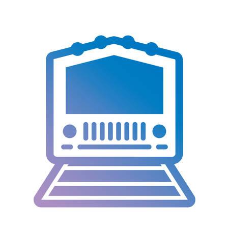train icon over white background colorful design vector illustration  イラスト・ベクター素材